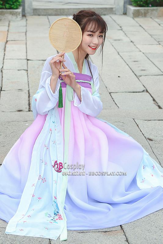 Hán Phục Múa Lạc Hoa Hải Dương Lam