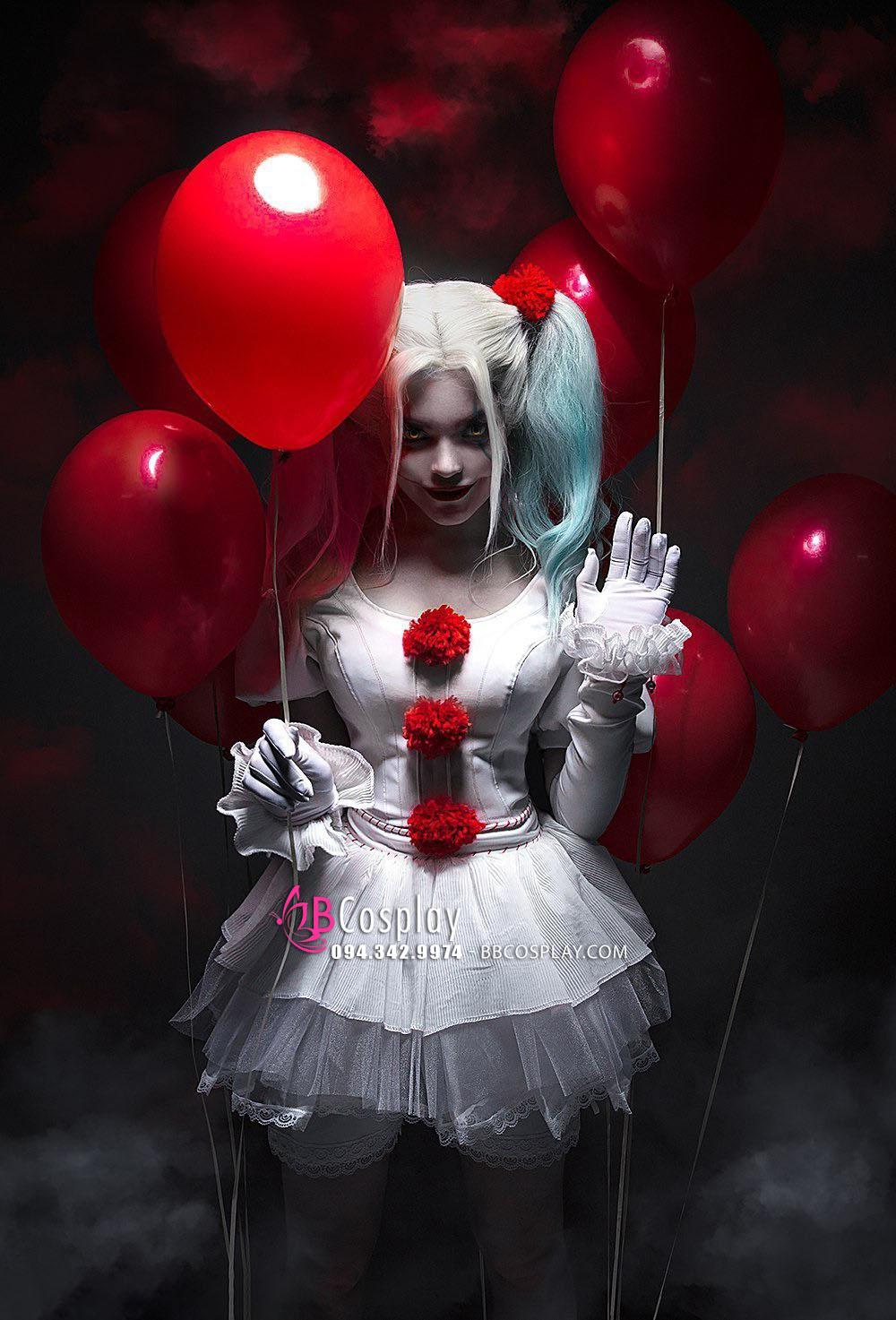 Đồ Harleywise Hề Ma Phiên Bản Nữ Harley Quinn